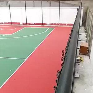 室外硅pu球场完工