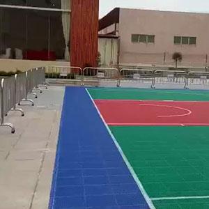 星光城室外拼装地板球场完工