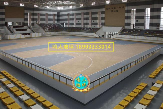 甘南pvc运动地板施工案例