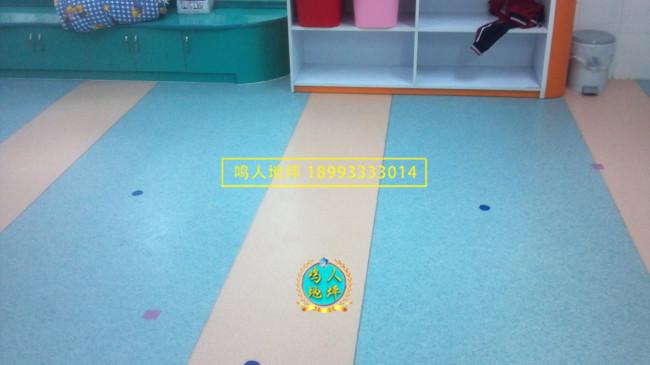 幼儿园室内花纹pvc地板施工案例