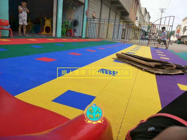 武威幼儿园拼装地板施工案例