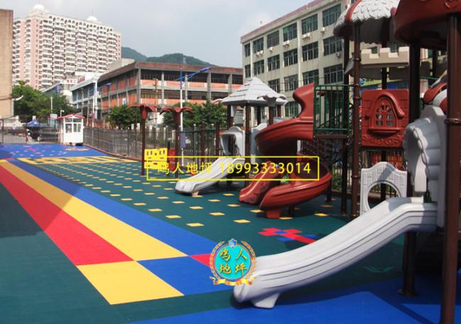 酒泉幼儿园拼装地板施工案例