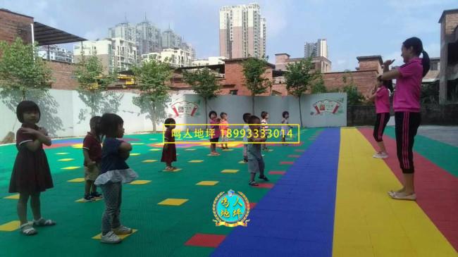 兰州幼儿园拼装地板施工案例