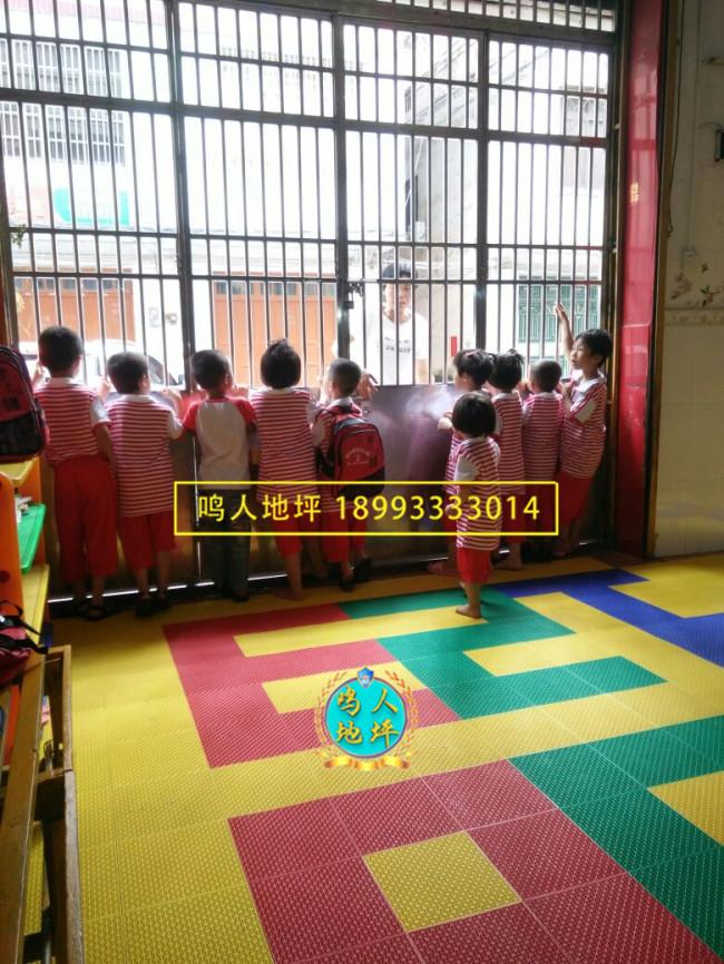 临夏幼儿园拼装地板施工案例