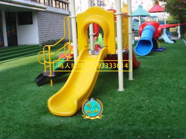 甘肃幼儿园人造草坪施工案例